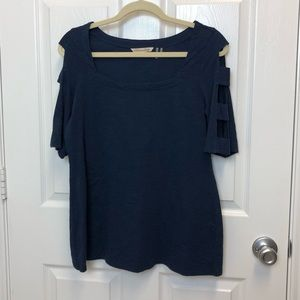 Soft Surroundings Navy Casual Top